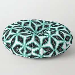 Diamond pattern in blue Floor Pillow