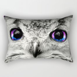 Galaxy Owl Eyes Rectangular Pillow