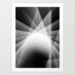 A Receptive Mind is Connected BLK/WHT Art Print