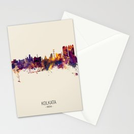 Kolkata (Calcutta) India Skyline Stationery Cards