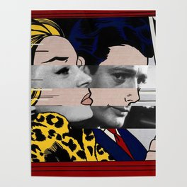 "Roy Lichtenstein's ""In the car"" & Marcello Mastroianni with Anita Ekberg in La Dolce Vita Poster"