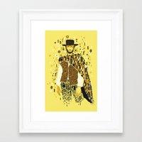 klimt Framed Art Prints featuring Klimt Eastwood by Frederick Hoffman