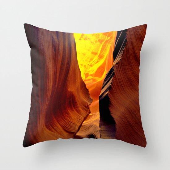 Magic pass.  Low Antelope Canyon, Arizona Throw Pillow