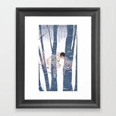 Winter Wolf Framed Art Print