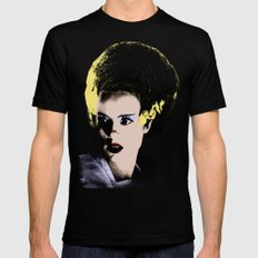 The Beautiful Bride of Frankenstein Mens Fitted Tee Black 2X-LARGE
