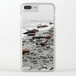 Driftwood Beach after the Storm Clear iPhone Case