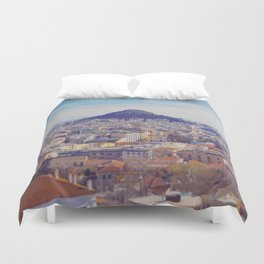 Above the City Duvet Cover