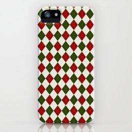 Christmas Argyle iPhone Case