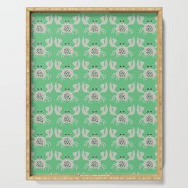 Vintage Crabby Pattern in Green Serving Tray