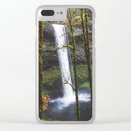Splash of Orange Clear iPhone Case