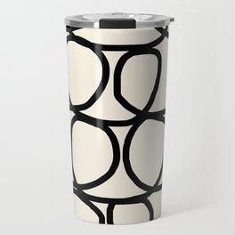 Loop Di Doo Cream & Black Travel Mug
