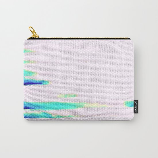 Colorful Seaside Stripes Carry-All Pouch