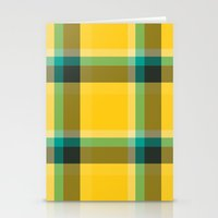 1d Stationery Cards featuring Plaid 1d by Patterns of Life