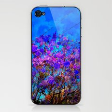 Purple Stained Glass Tree iPhone & iPod Skin