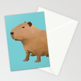 Capybara Polygon Art Stationery Cards
