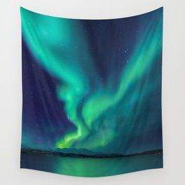 Aurora Borealis Lights Up the Sky (Northern Lights) Wall Tapestry