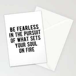 Inspiring - Be Fearless Quote Stationery Cards