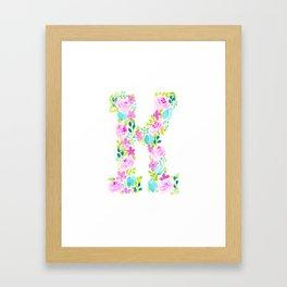 It's all o-K! - Letter K Framed Art Print