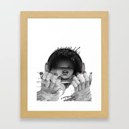 Space Noir Framed Art Print
