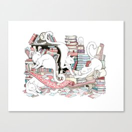 Acqua Alta bookstore, Venice Canvas Print
