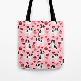 Japanese Chin valentines day dog lover dog breed pet portraits custom dogs by pet friendly Tote Bag