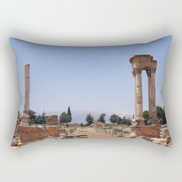 Ruins - Pillars & Mountains  Rectangular Pillow