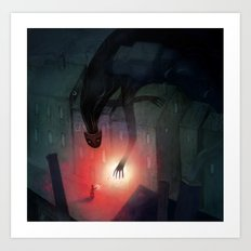 Shadow Friend Art Print