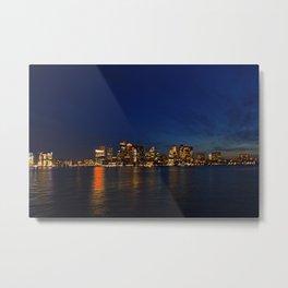 Night Skyline Metal Print