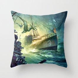 Destroyermen: Unknown Seas Throw Pillow