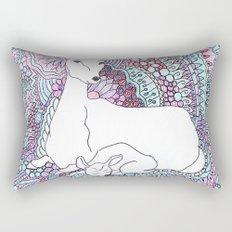 Deer and fawn Rectangular Pillow