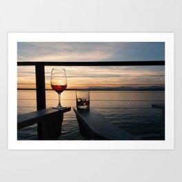 Wine and Whiskey Eve Art Print