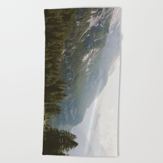 A Switzerland Mountain Valley - Landscape Photography Beach Towel