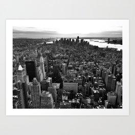 Birds Eye View NY Art Print