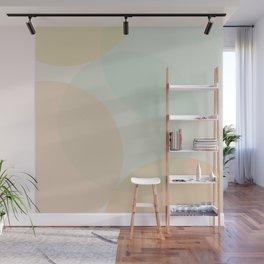 Minimal Circles Abstract - Natural Colors Wall Mural
