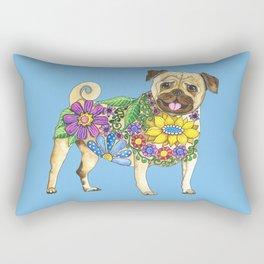 The Pugster (Blue) Rectangular Pillow