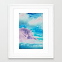 cloud Framed Art Prints featuring Cloud by Amy Sia