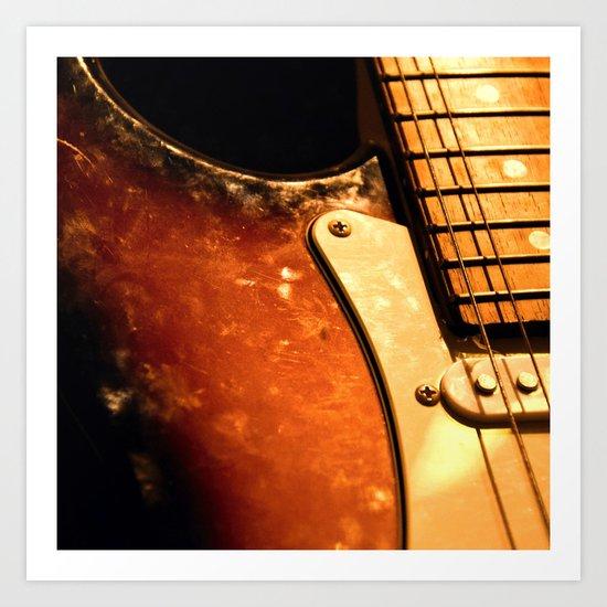 eletric guitar Art Print