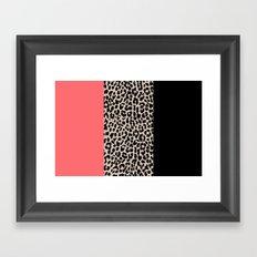 Leopard National Flag XV Framed Art Print