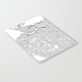Vancouver White Map Notebook