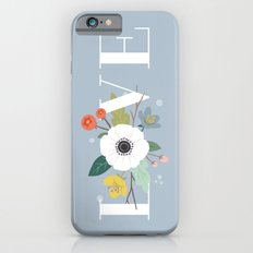 Floral Love - in Dusty Blue iPhone 6s Slim Case