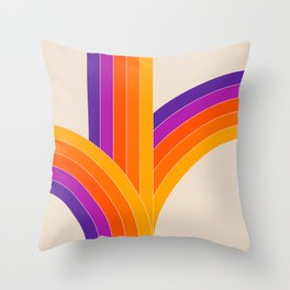 Bounce - Rainbow Throw Pillow