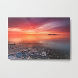 Easter Sunday Sunset at Great Salt Lake Metal Print