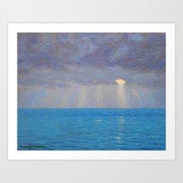 Ocean Sunset, California by Granville Redmond Art Print
