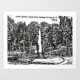 """Island Spouter"" Saratoga Spa State Park Geyser Art Print"