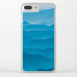 turquoise landscape Clear iPhone Case