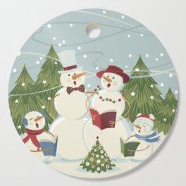 Christmas Song / Snowmen Cutting Board