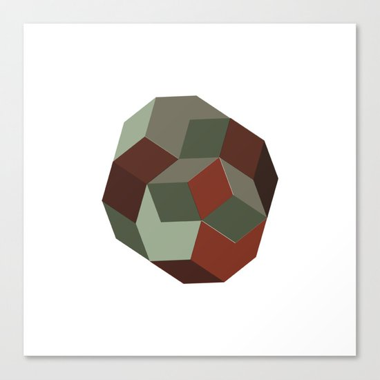 #231 Penrose's asteroid – Geometry Daily Canvas Print
