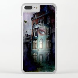 inside the haunted house Clear iPhone Case