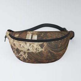 rustic western country leather texture crystal chandelier Fanny Pack