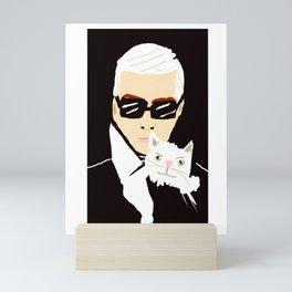KARL & CHOUPETTE Mini Art Print